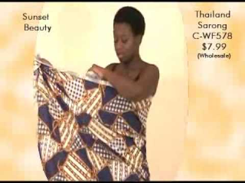 How To Tie A Sarong Africa Imports Youtube