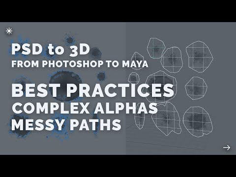 PSD to 3D → Quick Tip: Complex Alphas + Messy Paths
