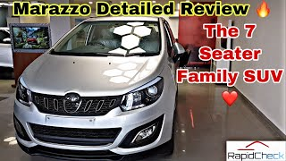 Mahindra Marazzo Detailed Hindi Review - Top Model | All Features and Interior | Best Family SUV🤔🤔