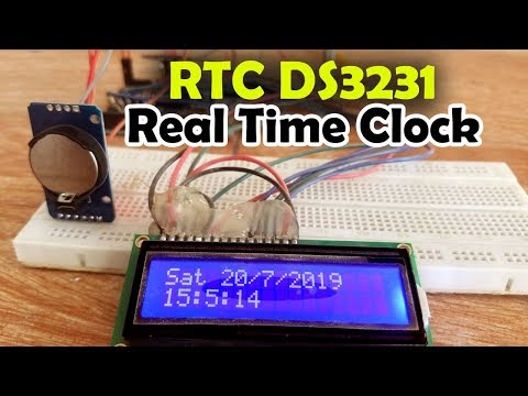 """Repeat Arduino RTC DS3231 Time and Date display on a 16x2 LCD """"Real"""