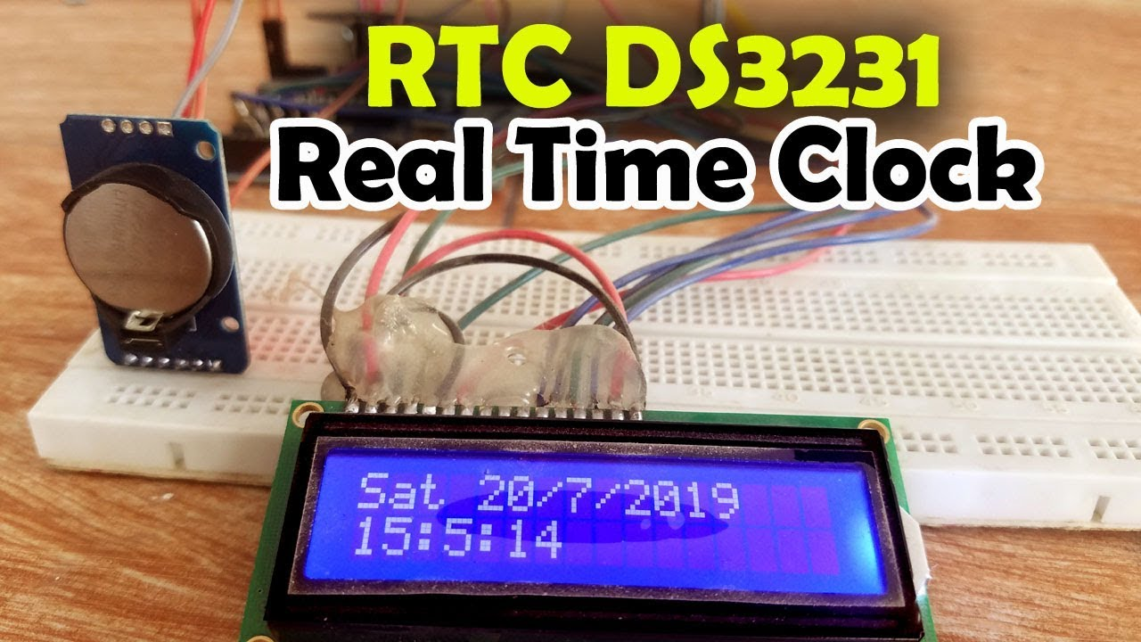 Arduino Rtc Ds3231 Time And Date Display On A 16x2 Lcd  U201creal Time Clock U201d