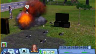 The Sims 3 - Topless Explosion - **Warning:Sim Nudity**