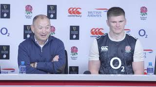 Press Conference: Eddie Jones and Owen Farrell after England v France | Guinness Six Nations