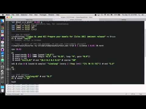 Livecoding Music with Tidal (Haskell)
