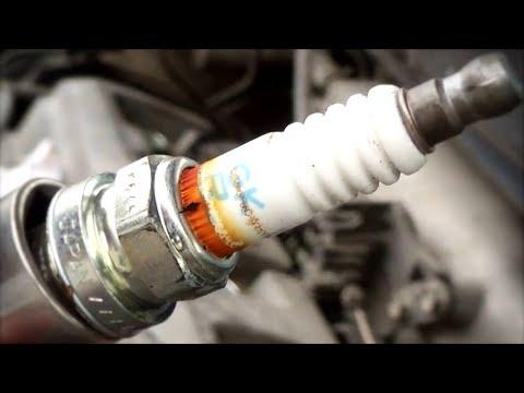 Замена свечей зажигания на двигателе 5s-fe Toyota Harrier