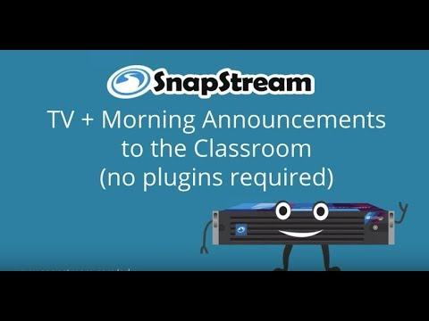 Stream Morning Announcements and Broadcast TV To The Classroom (February/01/2018)