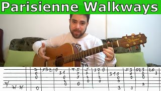 Fingerstyle Tutorial: Parisienne Walkways - Guitar Lesson w/ TAB