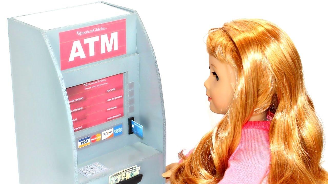 Diy American Girl Doll Atm Machine Youtube
