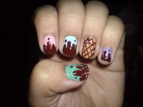 yummy ice cream nail art tutorial