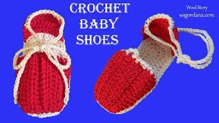 DIY Tutorial - Crochet Baby Shoes