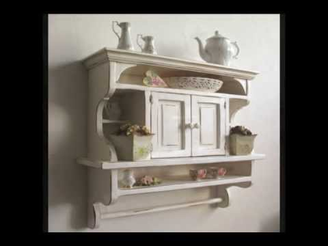 Rustic Kitchens Shelves Kitchen Cabinet Shabby Chic Art E107