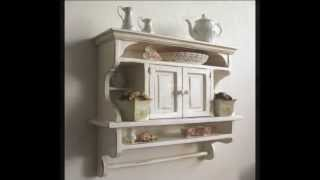 Rustic Kitchens Shelves: Kitchen Cabinet Shabby Chic Art.e107