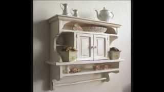 Rustic Kitchens Shelves: Kitchen Cabinet Shabby Chic Art.e107