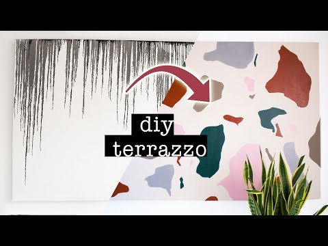 DIY Terrazzo Painting Over Old/Ugly Artwork