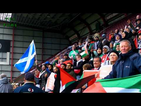 Free Palestine Chants at football match Edinburgh 2012