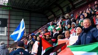 Free Palestine Chants at football match Edinburgh 2012