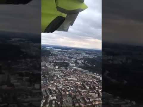 Landing at Berne Airport