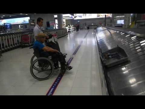 Bangkog Airport Baggage Collection, Retired Grandpa