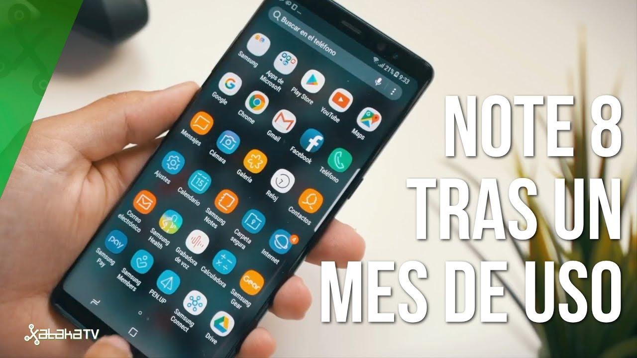 8728d6c4cb0 Samsung Galaxy NOTE 8 tras un MES de uso - YouTube