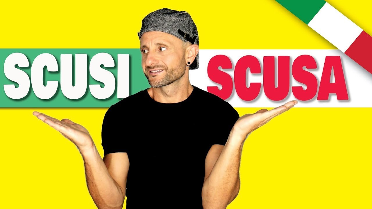 How To Say Excuse Me In Italian Scusa Or Scusi Formal Vs Informal Youtube