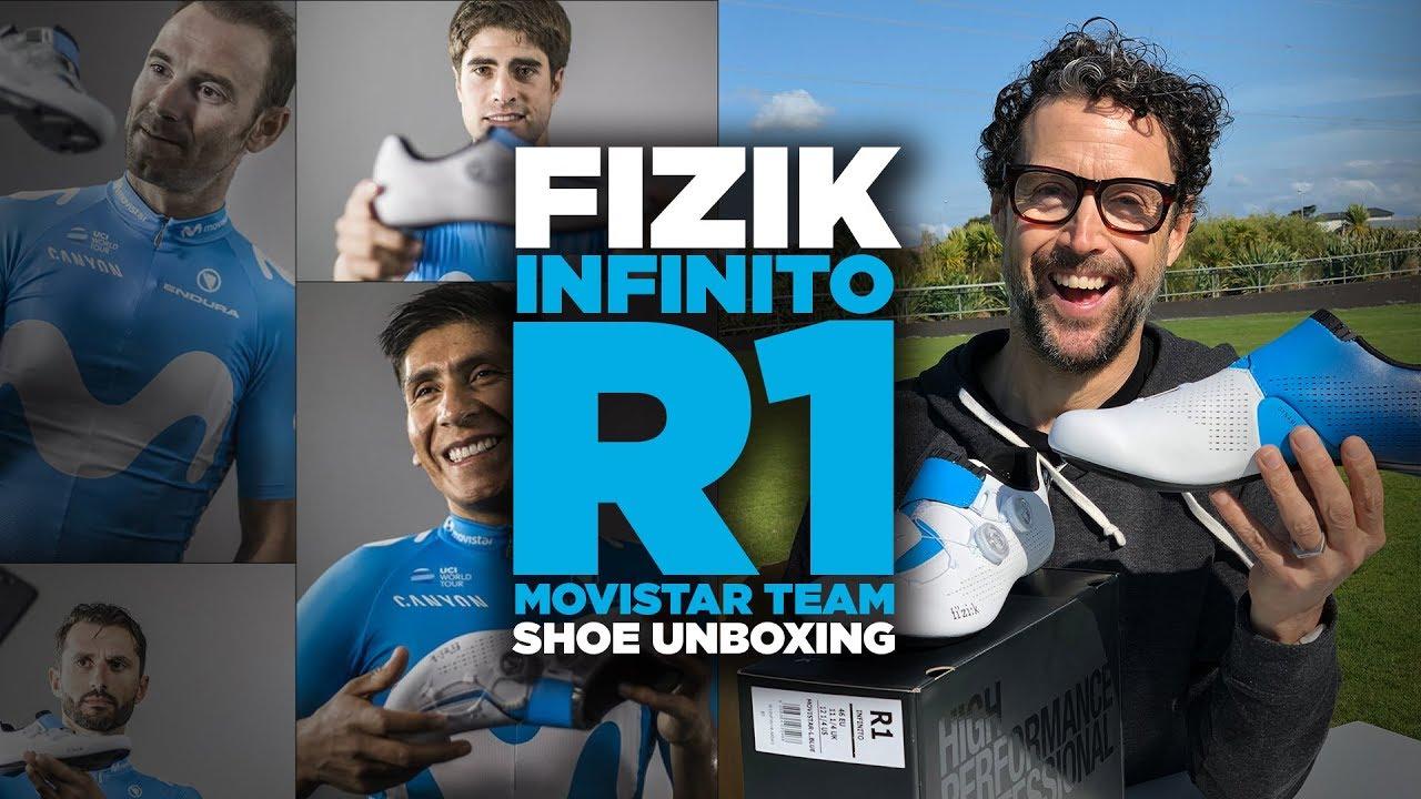 9b8fb92ef5 Fizik R1 Infinito (Movistar Team) Shoe Unboxing! - YouTube