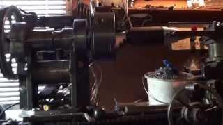 tokarka samorobka wlasnej konstrukcji, homemade lathe ,toczenie swidra do luparki 1