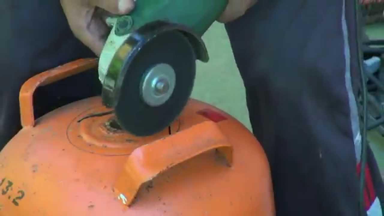 Cortar y manipular una bombona de butano sin peligro for Como hacer una cocina