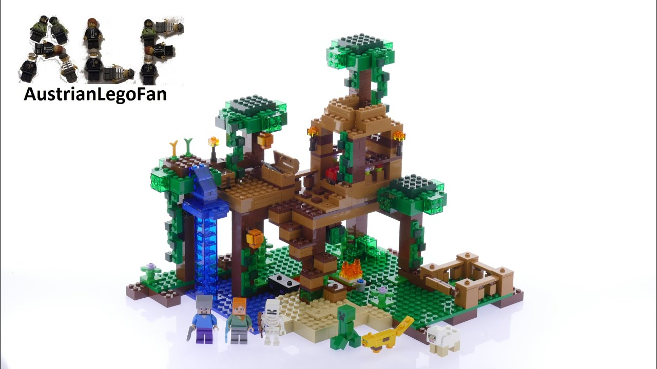 Lego Minecraft 21125 The Jungle Tree House - Lego Speed Build Review