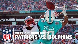 Patriots vs. Dolphins   Week 17 Highlights   NFL