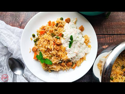 Pressure Cooker Soya Pulao | Easy & Healthy Soya Pulao Recipe for Beginners