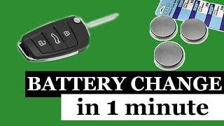 Замена батарейки в ключе  АУДИ А1, А3, А4, А6, Q7 Change the battery