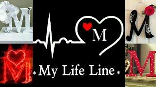 M My Life Line M Name Dp For Whatsapp M Name Dp M Letter Dp M Alphabet Dp M Name Ki Dp Love Youtube