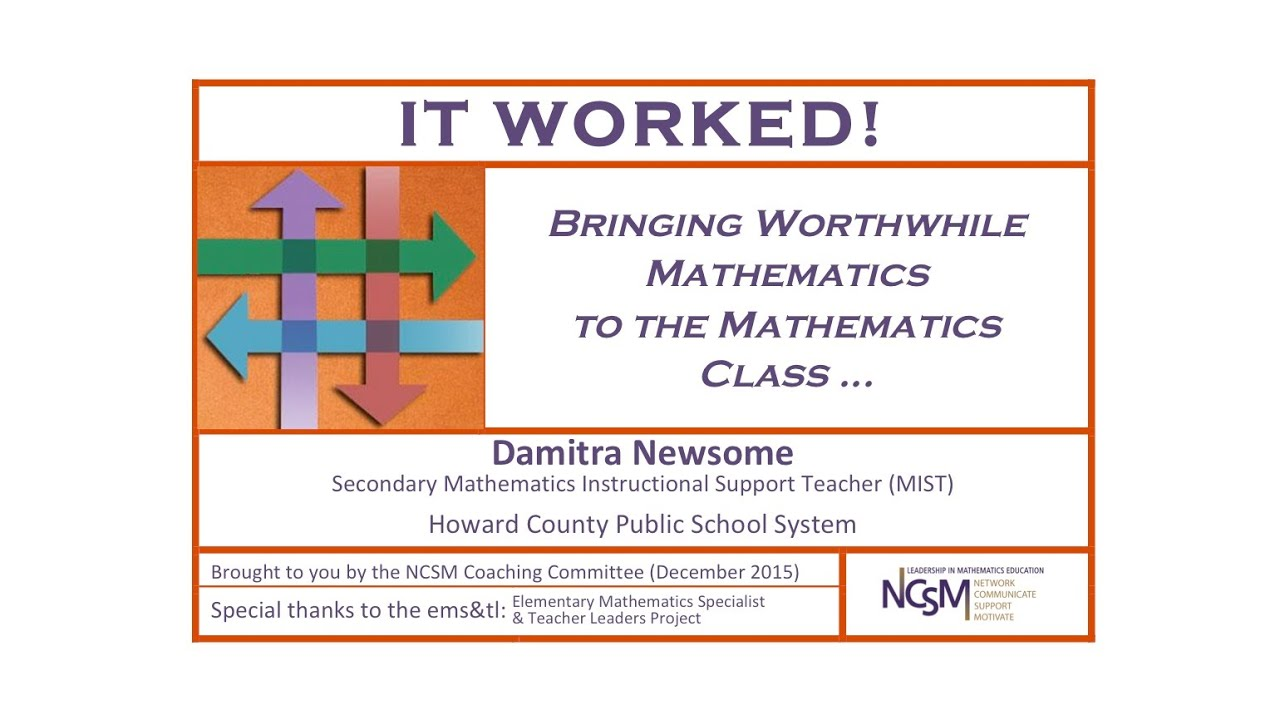 It Worked! - NCSM