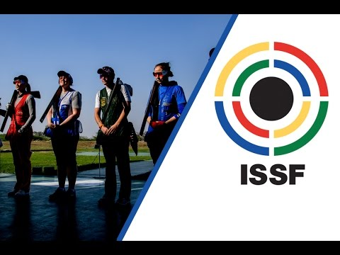 Trap Women Final  2017 ISSF World Cup Stage 1 in New Delhi IND