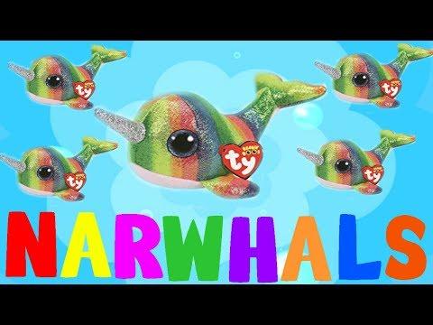 Beanie boos WEIRD SONG - NARWHALS