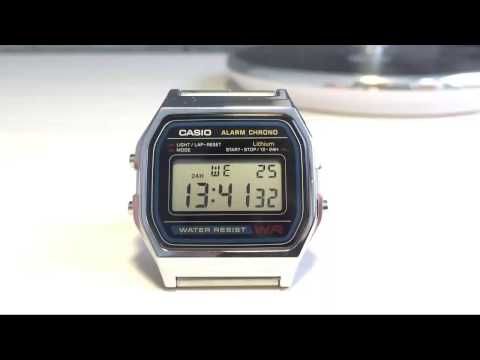 Настройка часов CASIO ALARM CHRONO