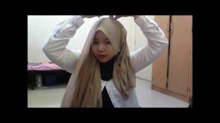 Repeat youtube video Tutorial chiffon Shawl by ZayaniRozali - daiyan trisha kerana kau
