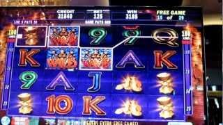 IGT 3 Kings Slot Machine Bonus Win