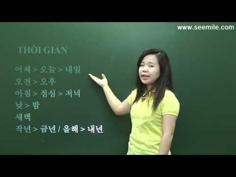 12. (học tiếng Hàn) THỜI GIAN 시간