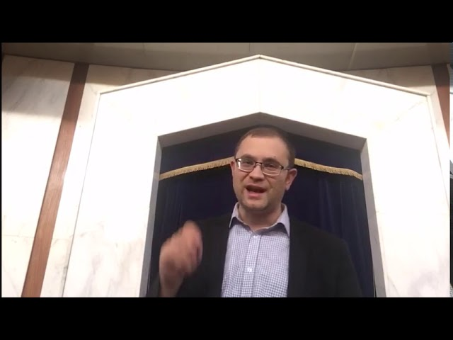 Video Message from Rabbi Knopf - November 5, 2020
