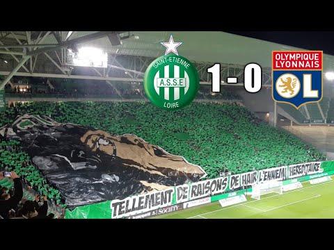 ASSE 1-0 LYON Les Chants Et Tifo Du Match MF91/GA92 💚💚