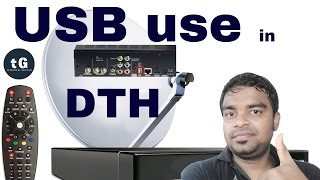 what is the use of usb port in tata sky airtel videocon and other dth set top box