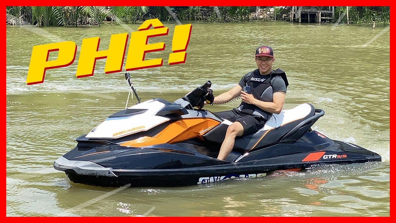 PKL - Trải nghiệm đi phượt bằng xe mô tô nước (My first time riding water scooter)