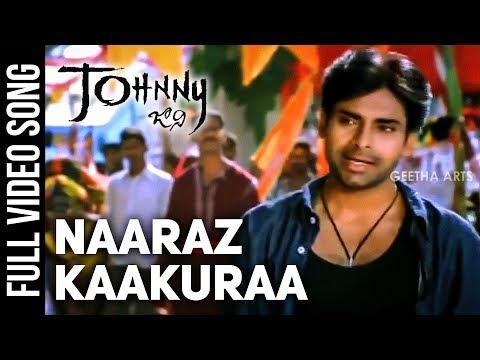 Naaraz Kaakuraa Full Video Song  Johnny Video Songs  Pawan Kalyan  Ramana Gogula  Geetha Arts