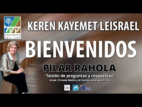"""Pilar Rahola Sesión De Preguntas Y Respuestas """"Israel, Oriente Medio Y El Mundo En El Post Covid"""""""