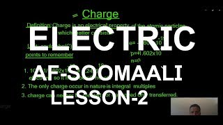 Electric Charge af-soomaali || electrical engineering lesson 2
