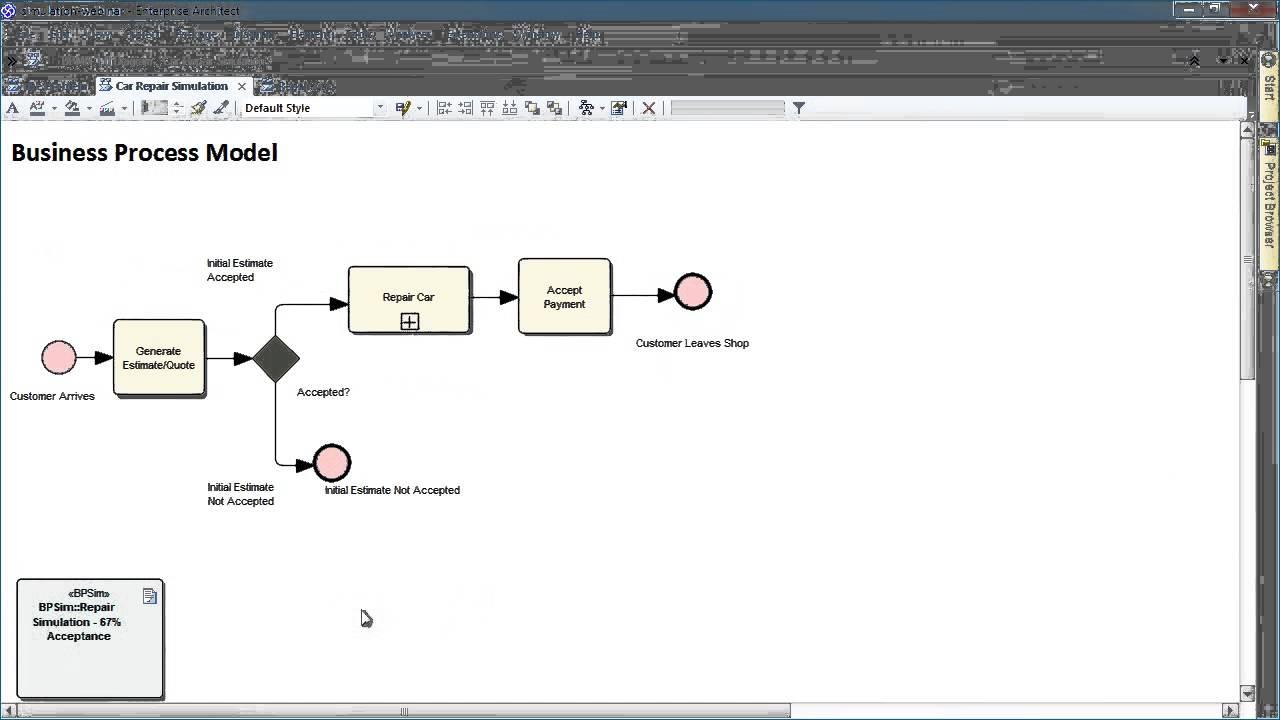 simulation and decision making in enterprise architect 121 youtube - Bpmn Simulation
