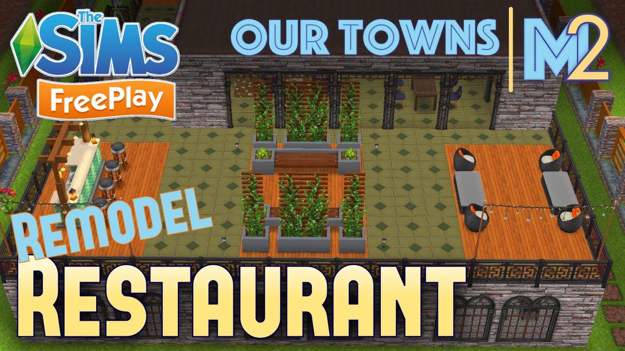 Sims freeplay restaurant remodeled original design
