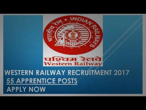 Western Railway Recruitment 2017  55 Apprentice Posts  Apply Now