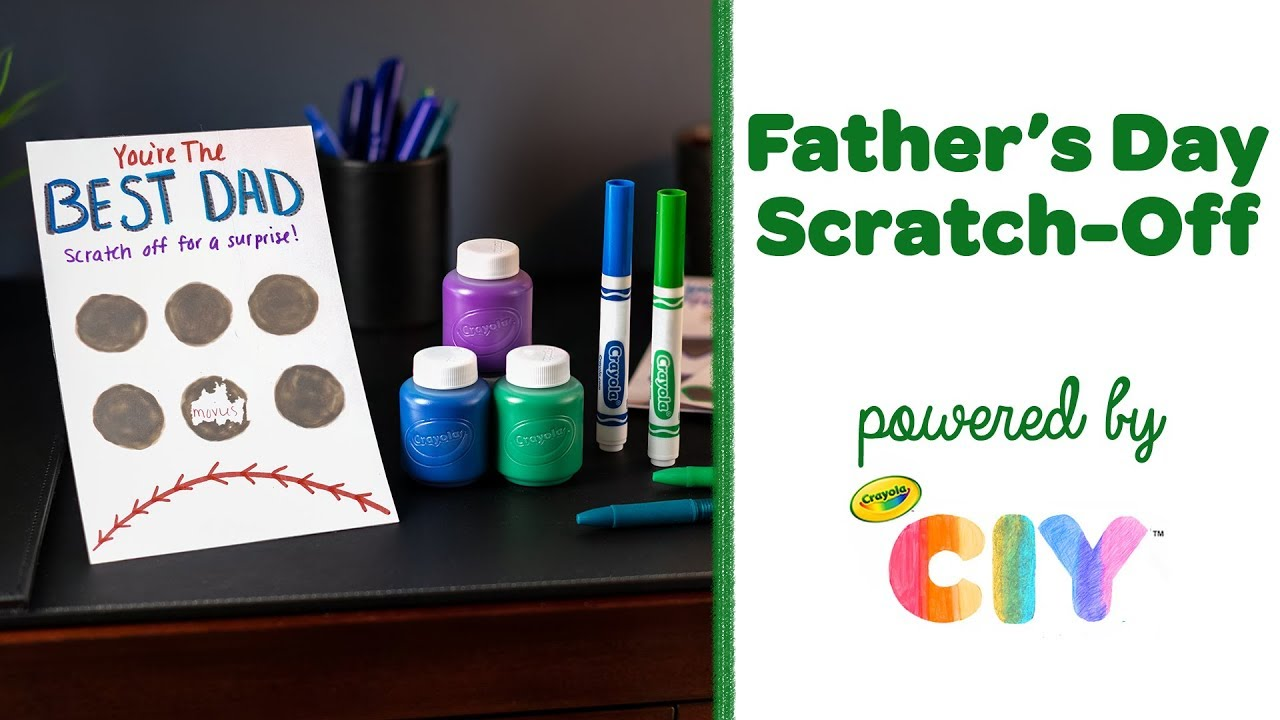 Scratch card good gift for the fathers day gift set